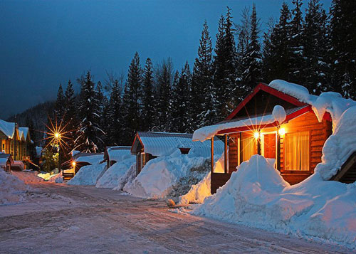 Red Mountain Viillage  Small & Larrge Cottages at the base of Red Resort in Rossland BC