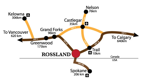 Rossland Road Map